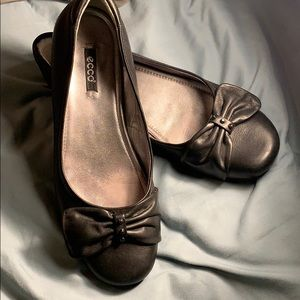Ecco All Leather Ballerina Flats